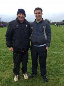 Christopher Murray with coach Eamon Giles