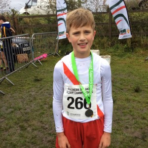 Max Roarty with his silver medal.