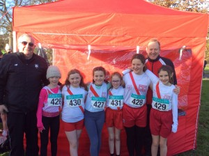Our U/12 Girls with Eamon and Ernie.