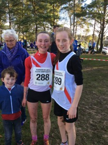 Molly and Hannah our u/14 girls with Aidan Logue.