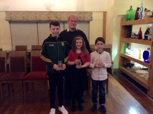 Dylan, Orla and Caolan with Ian MC Garvey.