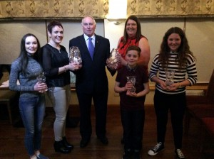 Molly,Sally, Claire, Oisin Aoife with guest of honour paddy Marley.
