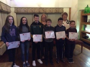 Hannah, Molly, Dylan, Johnny, Liam, Oisin with Mary Murry and Shauna Giles.