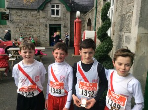 Johnny Trearty, Oran McMenamim,Liam Donnelly,and Oisin Kelly Boys U/14.
