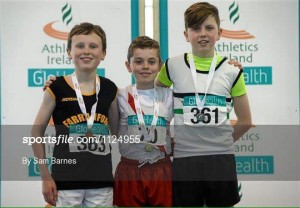 Oisin Kelly with his Gold medal.