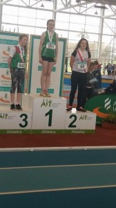 Aoife Giles receiving her medal.