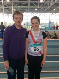 Aoife with her coach rose.
