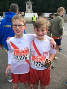 Connor Neely and Cian McMenamim boys u/12
