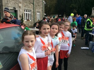 Blathnaidh Gallagher,Nazara MC Fadden, Ciara Donnelly,Leah McDaid,and Caoimhe Neely girls u/12