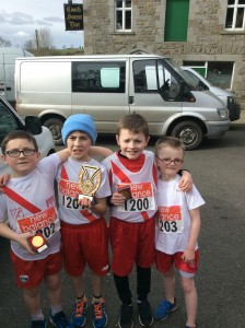 Ryan McMenamim,Keelan MC Fadden,Michael Moore, and Dearmuid Gallagher. Boys u/10.