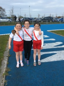 Orla,Ciara and Caoimhe who competed in the turbo javelin.