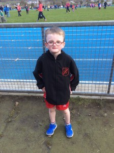 Diarmuid Gallagher who competed in the boys U/9 .