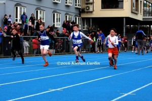 Ryan MC Menamin in the boys U/11 60m.