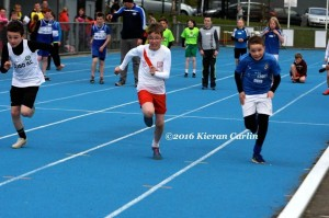 Connor Neely in action in the boys U/12 60m.