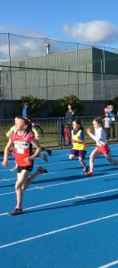 Clodagh Neely in action in the 60m.