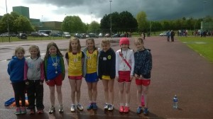 The Girls U/11 who competed in the Turbo Javelin.