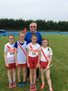 Our girls relay team