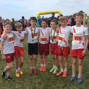 Boys under 13 who won gold team medals
