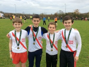 Boys Under  14 who got bronze medals. Johnny Trearty, Liam Donnelly, Oisin Kelly and Allan Neely.