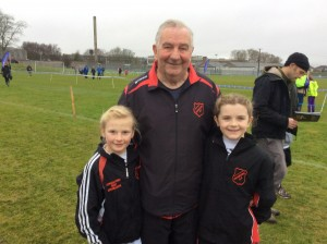 Miah and Clodagh with Eamon.
