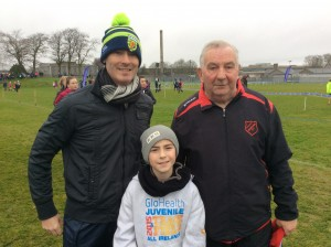 Caolan with his Dad, Danny and coach Eamon.