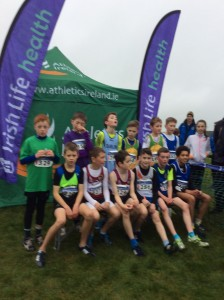 Caolan McFadden 4th place with the top 12 in the boys U/11.