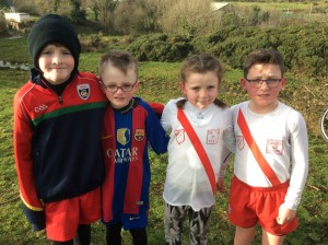 First 4 in the underage race Michael Moore Diarmuid Gallagher Karen Neely and Ryan MC Menamin