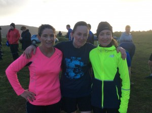 First 3 ladies Home in the Winifred Gallagher race Paula Hegarty 3rd  Bridie Trearty 1st and claire Harkin 2nd.