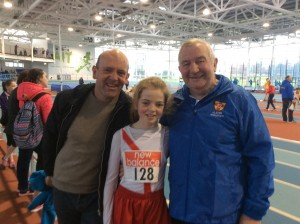 Teresa Mullen with Fergus Mullen and Eamon Giles.