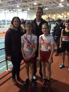 Connor and Caoimhe Neely who both won medals in Athlone with proud parents Grace and Gilbert.