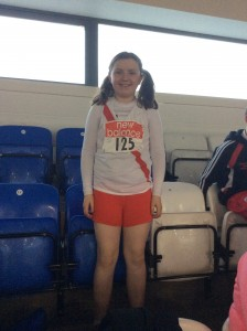 Orla Neely who came 4th in the Girls U/12 shot.