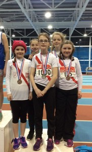 Our Girls U/12 relay team who came 2nd team.