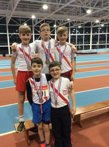 Our boys U/12 relay team who came 2nd
