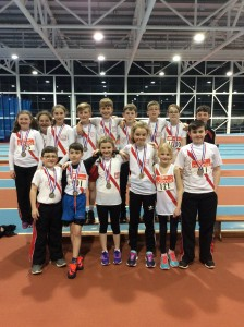 Cranford AC Athletes who travelled to Athlone to Compete in the northwest indoor Championship