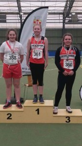 Aoife Giles who won silver in the shot putt