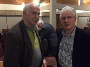 Hugo Duggan with Jerry Gallagher