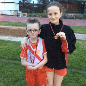 Diarmuid and Blathnaid Gallagher who both won medals on Tuesday evening in Lifford