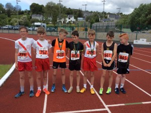 Max Connor and Cian at the end of the 600m U 13