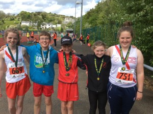 Teresa Connor max Orla and Aoife with their medals at the Donegal Juvenile Championships