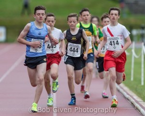 Oran and Oisin in action in the 1500m