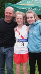 Teresa Mullen with her Dad Fergus and sister.