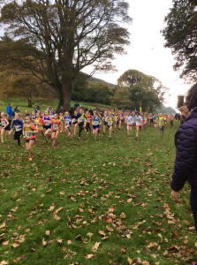START OF THE U12 GIRLS