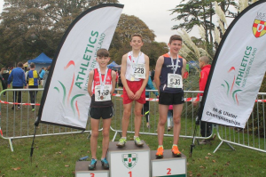 OISIN KELLY RECIEVING HIS GOLD MEDAL