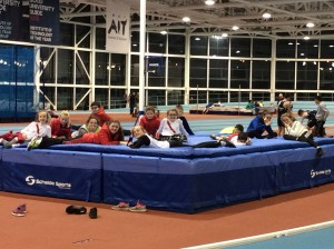 A group of Cranford AC  who competed inAthlone at the Northwest indoor championship
