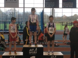 Caolan Mc Fadden who came 3rd in long jump