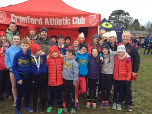 Cranford AC Athletes coaches and parents at Abbotstown