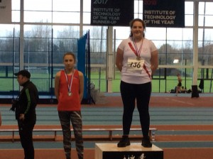 Aoife Giles who won the Girls u 14 Shot