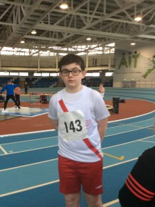Allan Neely who competed in the U 16 Shot and 1500m